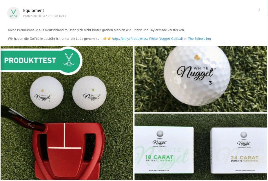 Golf Post testet White Nugget: BRAVO!