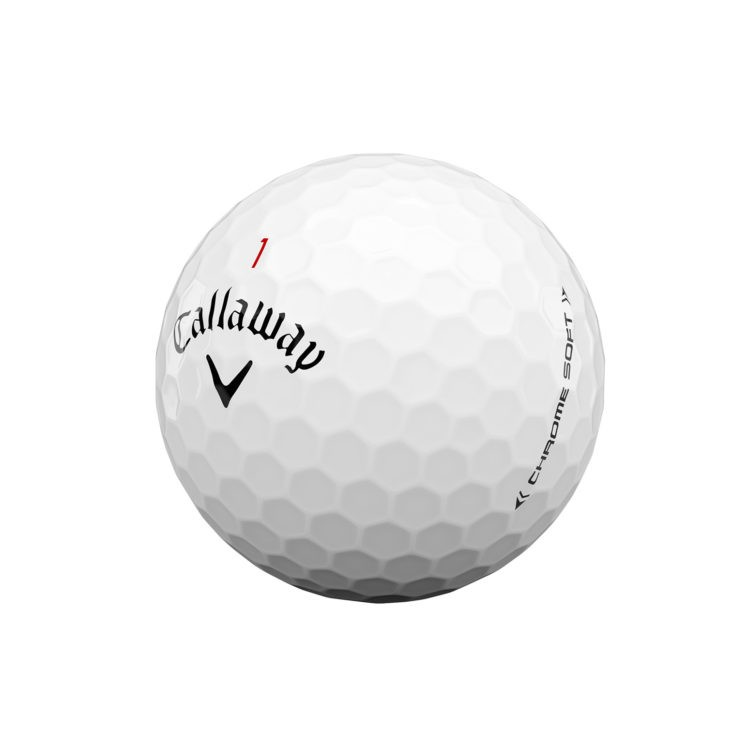 Callaway chrome-soft-golf-ball-2020-white-quarter-view