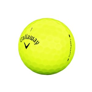 Callaway supersoft-2019-ball-quarter-view-yellow