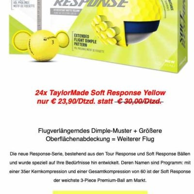 Taylormade-SoftResponse-Yellow Aktion